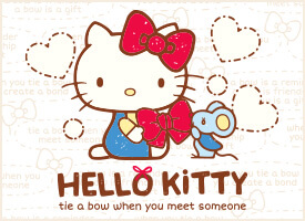HELLO KITTY ACTION TIE A BOW WHEN YOU MEET SOMEONE